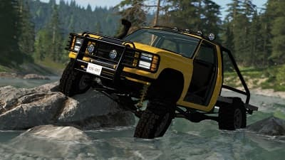 BeamNG crossing river 4x4 simulator